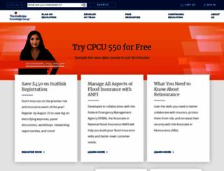 theinstitutes.org screenshot