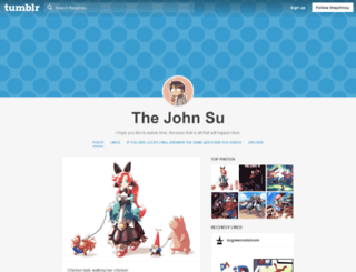 thejohnsu.tumblr.com screenshot