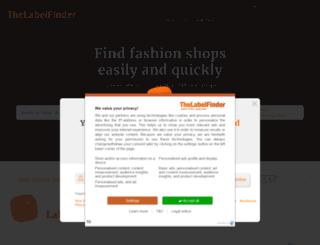 thelabelfinder.co.uk screenshot