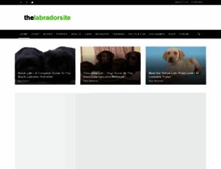 thelabradorsite.com screenshot