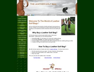 theleathergolfbag.com screenshot