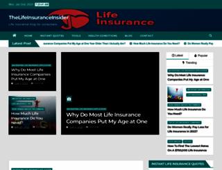 thelifeinsuranceinsider.com screenshot