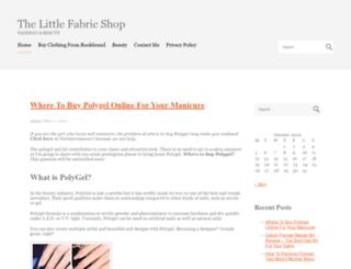 thelittlefabricshop.com screenshot