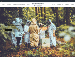 thelondonbeecompany.com screenshot