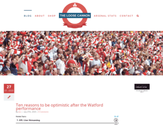 theloosecannon.co.uk screenshot