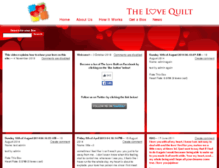 thelovequilt.com screenshot