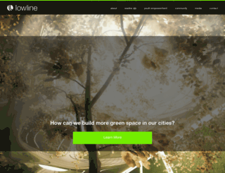 thelowline.org screenshot