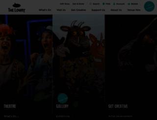 thelowry.com screenshot