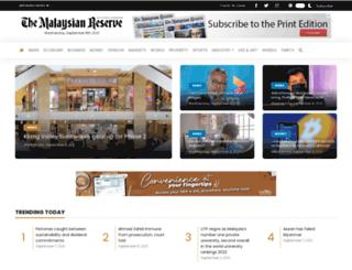 themalaysianreserve.com screenshot