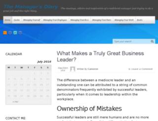 themanagersdiary.com screenshot