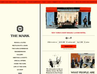 themarkhotel.com screenshot
