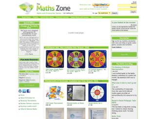 themathszone.co.uk screenshot