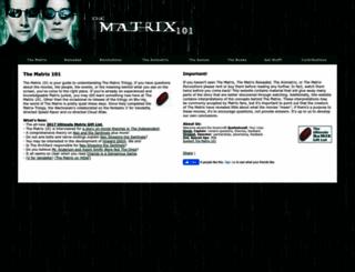 thematrix101.com screenshot