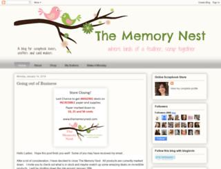 thememorynest.blogspot.com screenshot