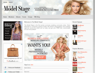 themodelstage.com screenshot