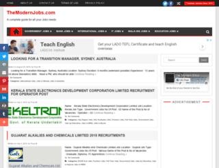 themodernjobs.com screenshot