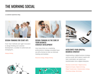 themorningsocial.com screenshot
