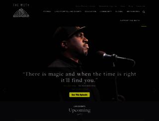 themoth.org screenshot