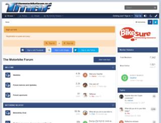 themotorbikeforum.co.uk screenshot