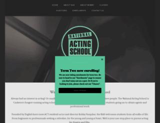 thenationalactingschool.com.au screenshot