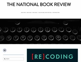thenationalbookreview.com screenshot