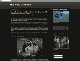 thenerdgrimoire.blogspot.ie screenshot