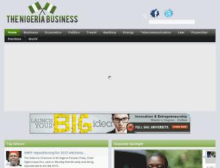 thenigeriabusiness.com screenshot