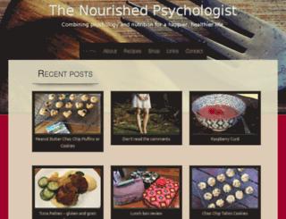 thenourishedpsychologist.com screenshot