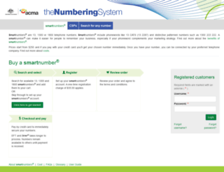 thenumberingsystem.com.au screenshot