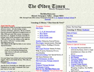 theoldentimes.com screenshot