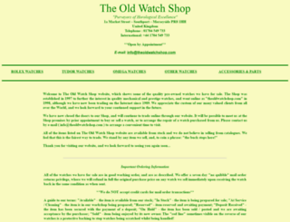 theoldwatchshop.com screenshot