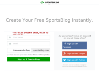theoneandonlysportsblog.sportsblog.com screenshot