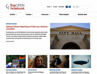 theopennotebook.com screenshot