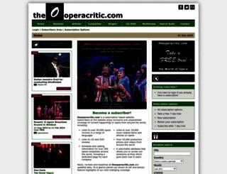 theoperacritic.com screenshot