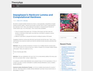 theoryapp.com screenshot