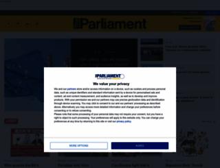 theparliamentmagazine.eu screenshot