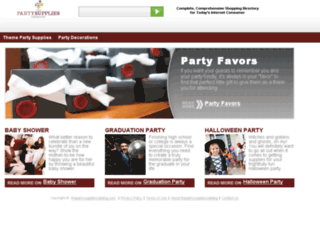 thepartysuppliescatalog.com screenshot
