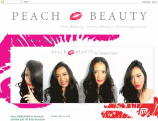 thepeachbeauty.com screenshot