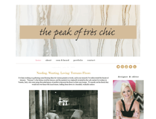 thepeakoftreschic.com screenshot
