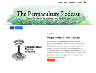 thepermaculturepodcast.com screenshot