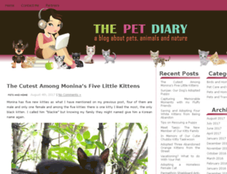 thepetdiary.com screenshot