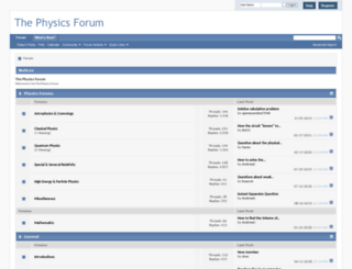 thephysicsforum.com screenshot