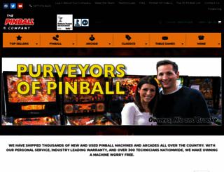 thepinballcompany.com screenshot