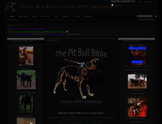 thepitbullbible.com screenshot