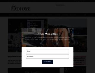 theplaidhorse.com screenshot