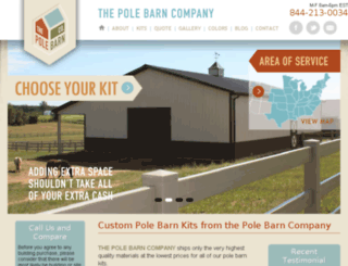 thepolebarncompany.com screenshot
