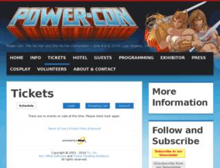 thepower-con.tix.com screenshot