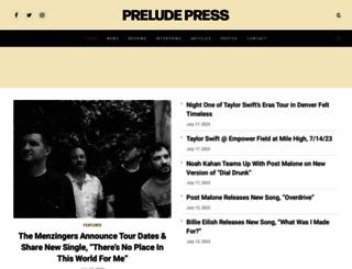 thepreludepress.com screenshot