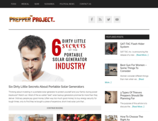 theprepperproject.com screenshot
