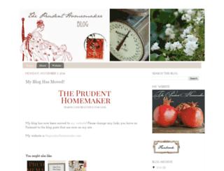 theprudenthomemakerblog.blogspot.com screenshot